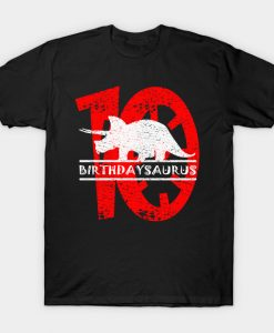 10th Birthday Dinosaur 10 Years Birthdaysaurus T-Shirt AI