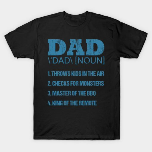 Dad Throws Kids In The Air Father's Day Gift Dad T-Shirt AI
