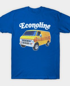 1970s Custom Econoline Van Faded Thrift Style Retro Design T-Shirt AI