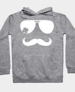 St Patrick's day mustache Hoodie AI