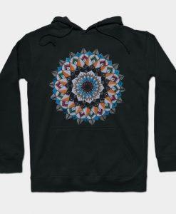 Women's Mandala Lotus Flower Hoodie AI