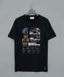19 Years of Fast and Furious 2001 2020 10 Movies Signature T Shirt AI