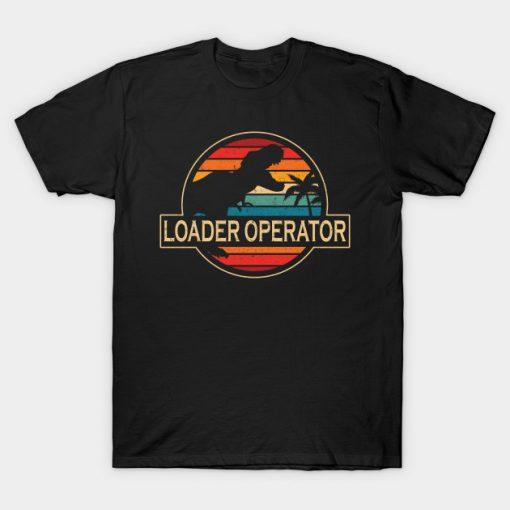 Loader Operator Dinosaur T-Shirt AI
