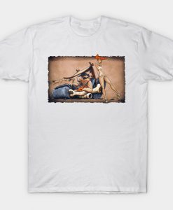 The Flintstones go Lowbrow T-Shirt AI