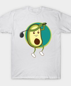 Avocado is playing golf T-Shirt AI