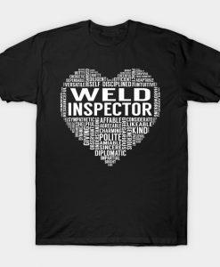 Weld Inspector Heart T Shirt AI