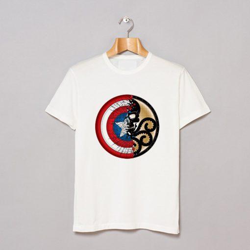 Captain America Harajuku Spider Skull T Shirt AI